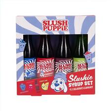 Slush Puppie Syrup Gift Set 4 syrups Raspberry, Lemon Lime, Cola and Strawberry