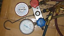 Vintage SNAP ON Refrigerant Manifold Gauge Set R-12 R-22  Air Condition