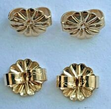 50 Genuine 14kt. Gold Filled Fancy Style Ear Nut / Clutches - Marked - 5mm