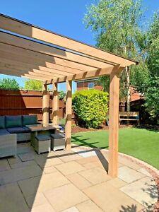 Green Oak Framed Garden Room / Luxury Oak Lean-to / BBQ & Entertainment Area