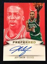 Jeff Green 13-14 Panini Preferred Autograph 19/25 Boston Celtics