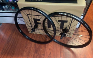 "FIT COMPLETE WHEEL SET 24 CRUISER INCH WHEELS BLACK 24"" BMX BIKE BIKES ODYSSEY"