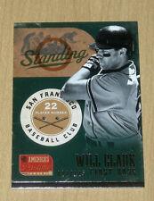 2013 Panini America's Pastime insert card Will Clark 22/125 uniform number