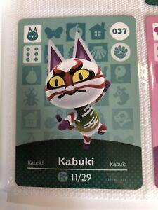 Authentic #037 Kabuki Animal Crossing Amiibo Card - Series 1