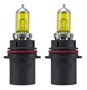x2 9007 HB5 100W Xenon Halogen Yellow 3000K Replace Headlight light Bulbs N219