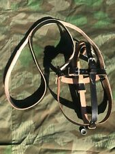 German WW2 Reproduction Leather Medic Canteen Carrier Black