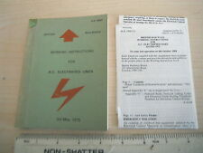 Europe Collectable Railway Rulebooks Books