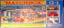"""Matchbox G-1 """"Service Station"""" Gift-Set 1968 top in Box mit rotem Fiat"""