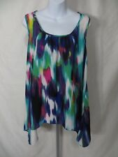 Maurices Womens Size 0 Sleeveless Tank Top Polyester Shirt Blouse EC