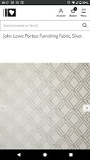 John Lewis Portico Luxurious Soft Furnishing 1.75m Fabric Curtain Remnant