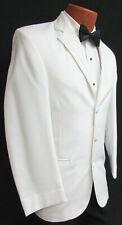 Men's White Perry Ellis Groove Tuxedo Jacket Wedding Mason Discount Clearance