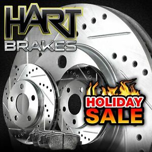 For 1998-2002 Acura, Honda CL, Accord Rear HartBrakes Brake Rotors+Ceramic Pads