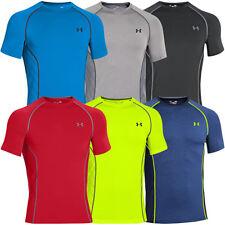 Under Armour Tech Hommes T-shirt Top de Sports - Black White Toutes Tailles Medium