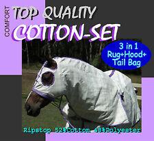Comfort I 5 6 I Cotton Set I Horse Rug Hood Tailbag I Top Quality