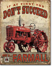 """ FARMALL"" If At First You Don't Succeed, Tin Sign 12"" X 16"" Man Cave, Garage"
