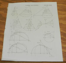 8 1817 Antique Prints/CONIC SECTION SHAPES/Encyclopedia Britannica, 5th Edition