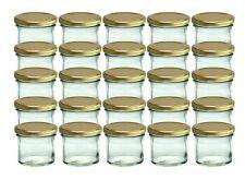 25 Sturzgläser 125 ml Marmeladengläser Einmachgläser Einweckgläser gold Deckel