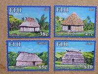 2016 FIJI TOURISM HUTS SET OF 4 MINT STAMPS MNH