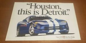 1996 Indy Pace Car Dodge Viper Advertising Poster B36 USAF Airplane Cutaway READ