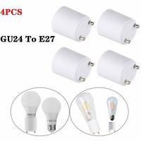 4Pcs LED Lamp Adapter GU24 To E26/E27 Standard Bulb Holder Socket Converter USA