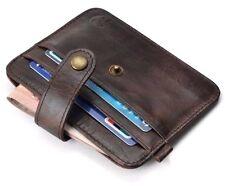 Hombres y mujeres de cuero verdadero pequeña ID Tarjeta Billetera último diseño de alta calidad Reino Unido