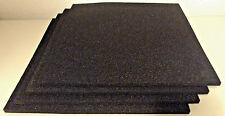 "(x4) Landsberg Polyurethane Black Foam Filter Mat Pads (12 x 12 x 3/8"")"