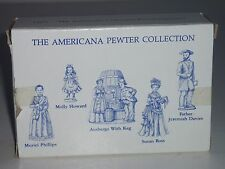 Liberty Falls 5 Different Solid Pewter Figurines - Americana Collection - Ah71