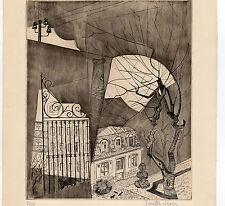 CHAT NOIR SEXER Ginette Née en 1913 Alsace gravure n° 5/50