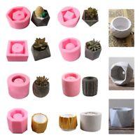 13 Pattern Silicone Flower Pot Mold Handmade DIY Succulent Concrete Cement Vase