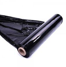 1 Roll Black Strong Pallet Stretch Shrink Wrap Cast Cling Film Parcel Packaging
