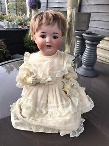 "Antique Flirty Eye German Simon Halbig 126 Bisque Head Doll 19"""