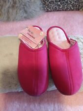 TOTES ISOTONER PILLOWSTEP SLIPPERS PINK SIZE 6 NEW