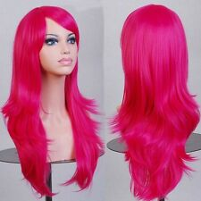 Hot Sale Long Hair Wig Womens Straight Curly Cosplay Costume Synthetic Full Wigs