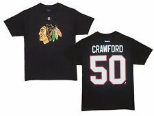 NHL T-Shirt Chicago Blackhawks Corey Crawford 50 Eishockey Name Number Player