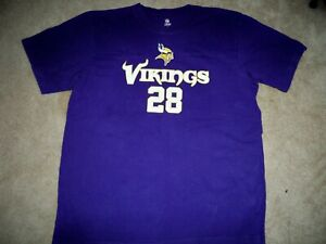 Vikings Minnesota Printed T shirt Official NFL Peterson Adrian #28 New size L