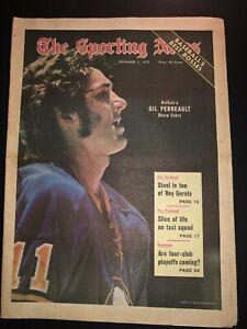 1972 Sporting News BUFFALO SABRES Gil PERREAULT No Label BUFFALO'S SHARP SABER