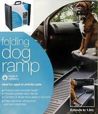 Dog Pet Car Ramp Compact Folding Portable Carry Fold Steps Fold-able Lightweight