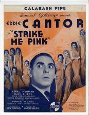 RARE EDDIE CANTOR HAROLD ARLEN MOVIE Sheet Music 1935 Calabash Pipe