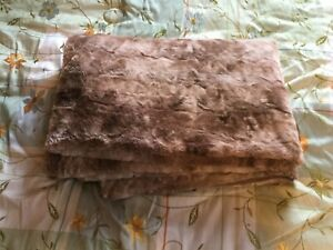 Super Soft Warm Plush Throw Blanket 50 inches x 67 inches - Brown