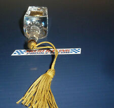 2002 JACK DANIELS Commemorative Crystal Ornament 1913 Gold Medal Bottle Xmas