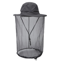 Camping Wide Brim Fisherman Hat Bucket Mosquito Net Anti-Boonie Beekeeper Cap