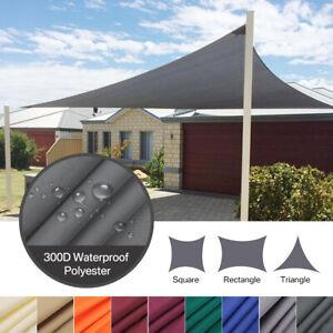 Étanche Voile d'ombrage Protection Anti-UV 98% Solaire Toile Tendue Parasol