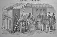 """Exposition universelle de l´industrie - trouniquets  /""""MESSE""""  Holzstich um 1870"""