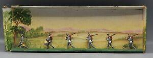 vintage SAE civil war 1863 CONFEDERATE INFANTRY MARCHING set 30mm metal soldiers