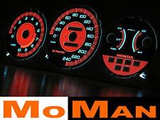 92-95 HONDA CIVIC plasma tacho glow gauges reverse face el dials EG EH EJ EJ2