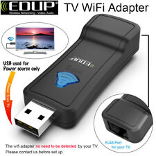 Wireless WiFi Lan Adapter WiFi Ethernet Bridge 300Mbps for Samsung Sony TV PS4
