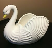 **Vintage INARCO WHITE SWAN PLANTER BEAUTIFUL E-1637 FOIL LABEL EXCELLENT MCM