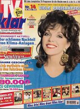 JOAN COLLINS - Vintage German Magazine TV KLAR dated April 14th 1995  C#76