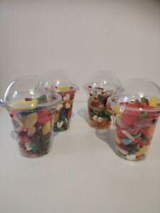 HALAL SWEETS Pre Filled Sweet Cups Candy Fizzy Gummy Party Treats Girls Boys