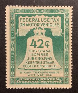 TDStamps: US Revenue Stamps Scott#RV5 Mint NH OG Lightly Crease